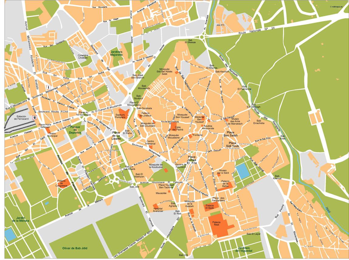 Marrakech Vector Map Our cartographers have made Marrakech Vector Map
