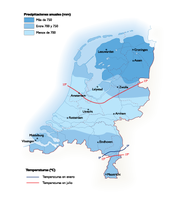 Netherlands Climate Map Vector World Maps