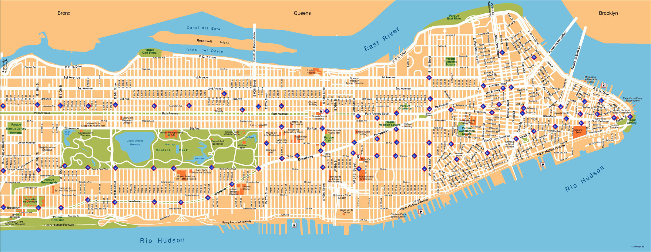City Map Of New York.New York Vector Map