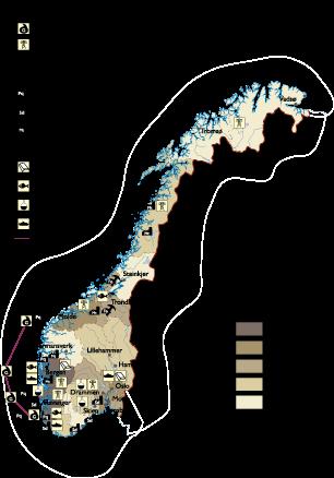 Norway Economic map | Vector World Maps