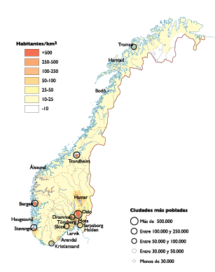 Norway Population Map Our Cartographers Have Made Norway - Map of cities in norway