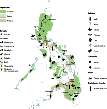 Philippines Economic map | Vector World Maps