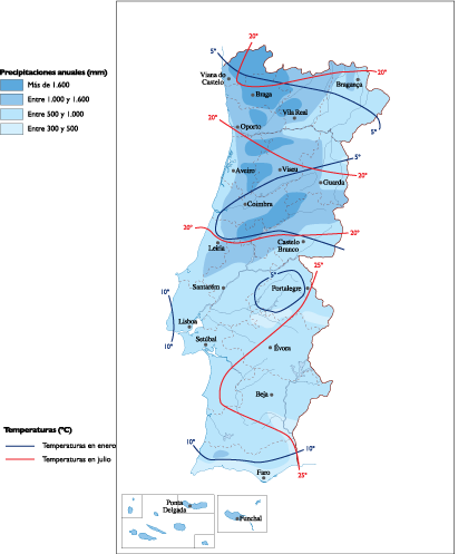 Portugal Climate map