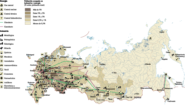 Russia Economic map Our cartographers have made Russia Economic