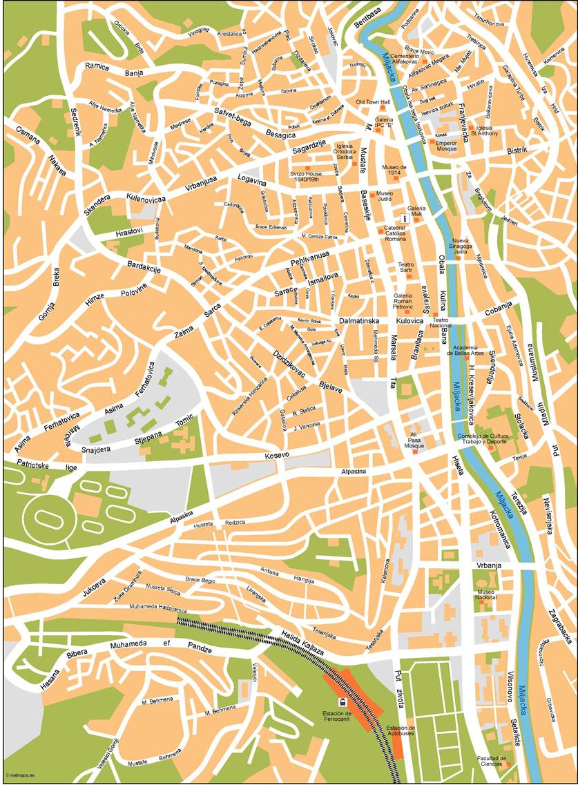 Sarajevo Vector Map on washington street map, colombo street map, london street map, auckland street map, florence street map, amman street map, cairo street map, istanbul street map, kampala street map, calgary street map, singapore street map, tokyo street map, wellington street map, beijing street map, kathmandu street map, moscow street map, montreal street map, zagreb street map, caracas street map, lyon street map,
