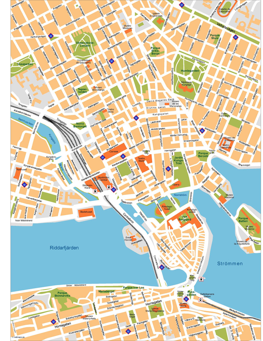 Stockholm Vector Map Our cartographers have made Stockholm Vector Map