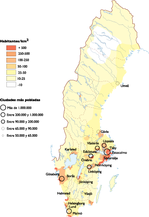 Sweden Population map