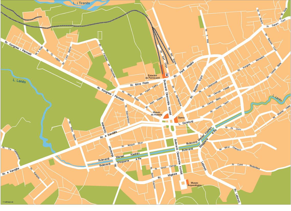 Tirana Vector Map Our cartographers have made Tirana Vector Map