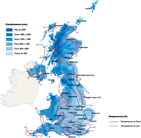 United Kingdom Climate map