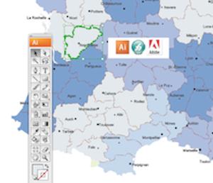 Vector Illustrator Eps & Wall Maps for companies  Netmaps