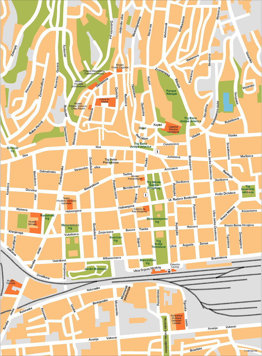 Zagreb Vector Map Our cartographers have made Zagreb Vector Map