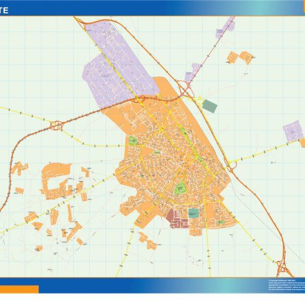 Albacete Mapa Vinilo