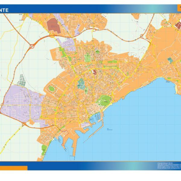 Alicante Mapa Vinilo