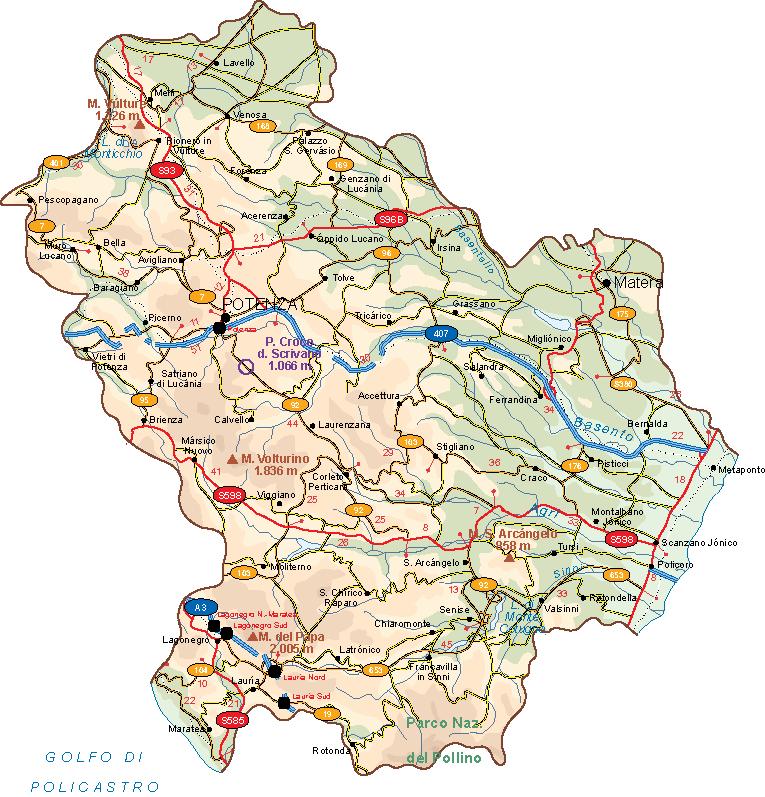 Basilicata Vector Map Our cartographers have made Basilicata