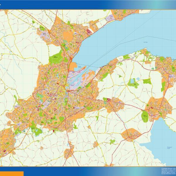 Belfast Vinyl Map
