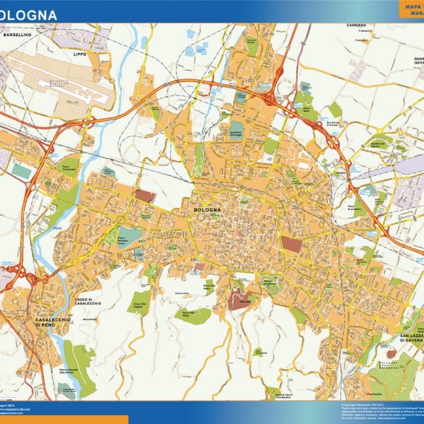 Bologna Wall Map