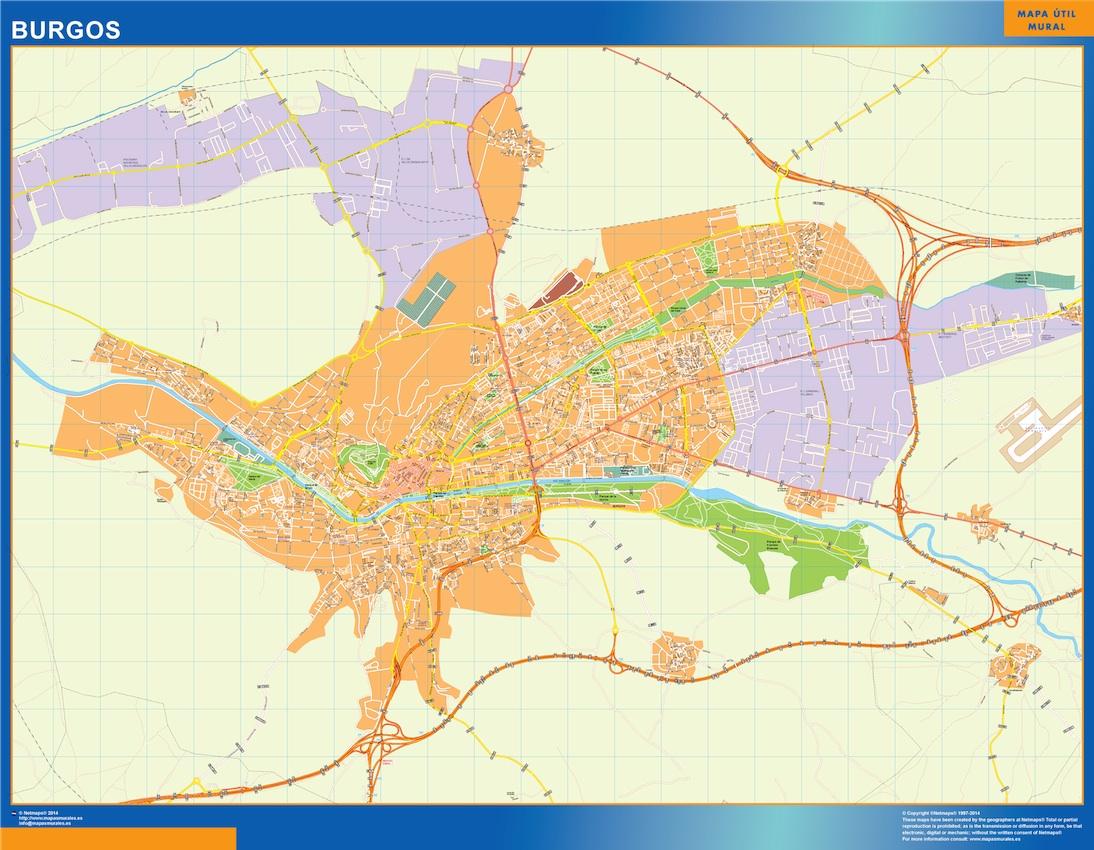 Mapa De Burgos Ciudad.Burgos Mapa Vinilo