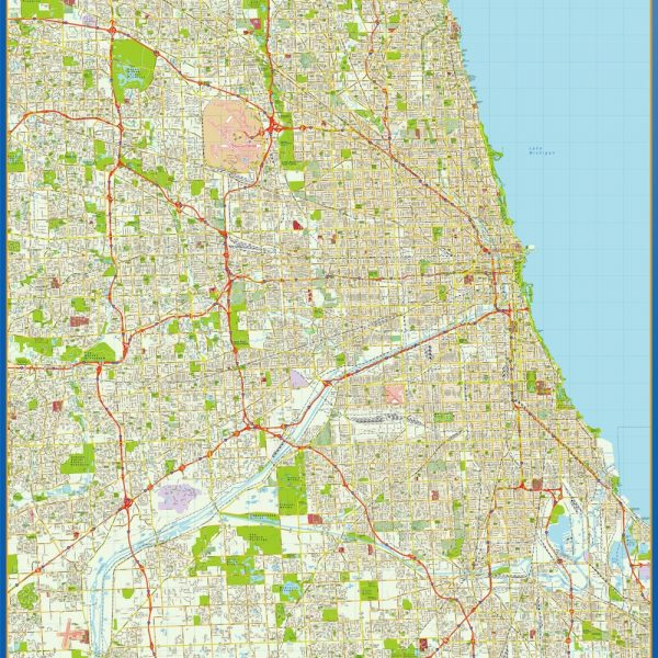 Chicago Vinyl Map