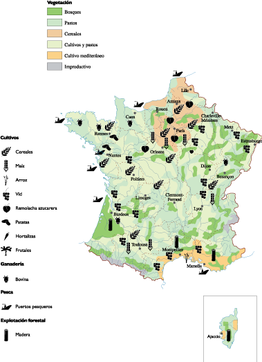 France Land Use map