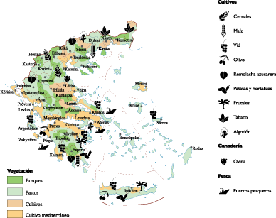 Greece Land Use map