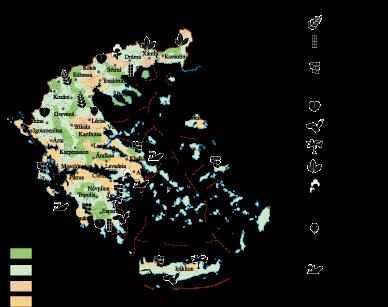 Greece Land Use map | Vector World Maps
