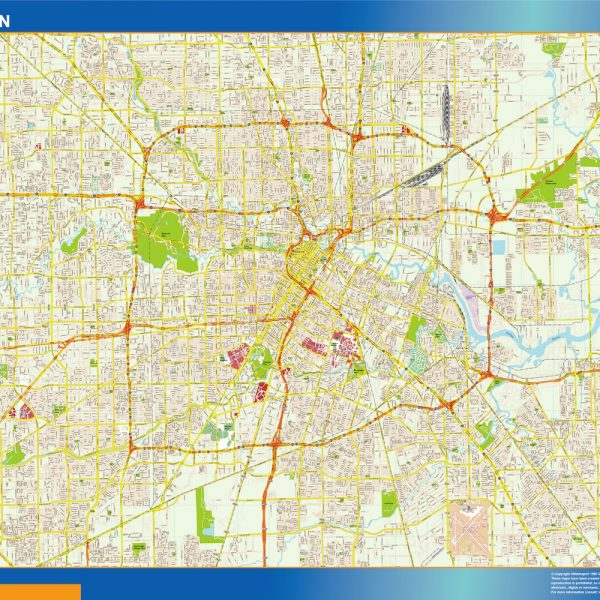 Houston Vinyl Map