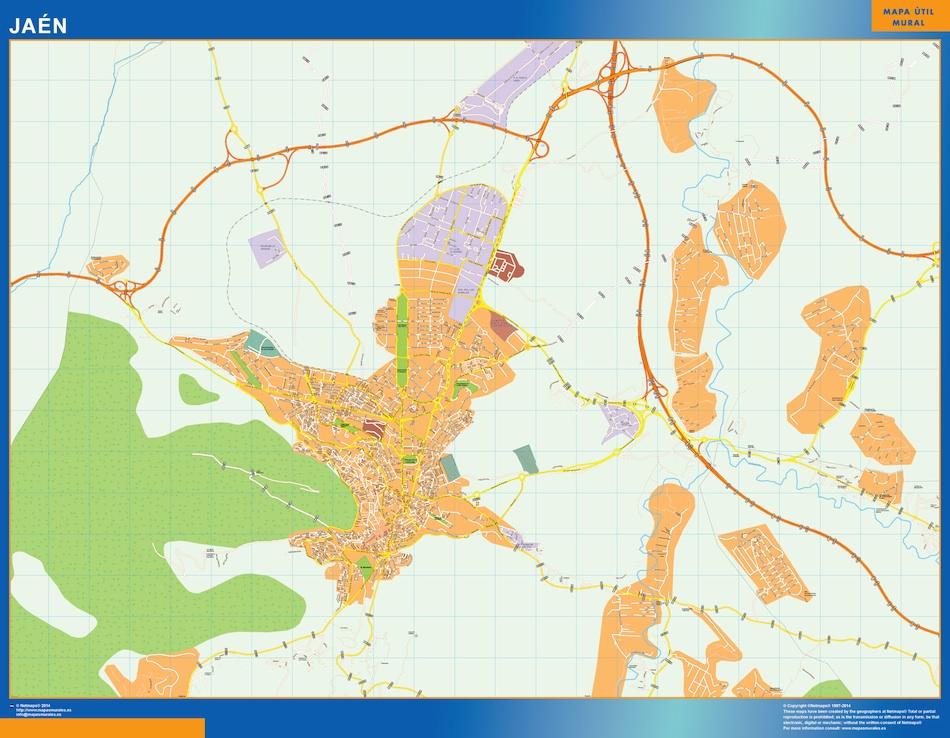 Mapa De Jaen Capital.Jaen Mapa Vinilo