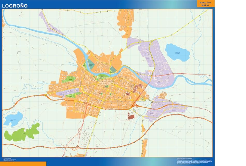 Logrono Mapa Vinilo Vector World Maps