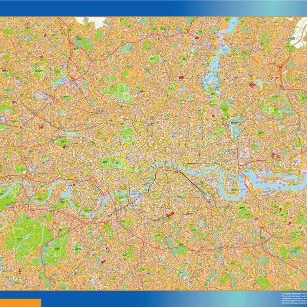 London Vinyl Map