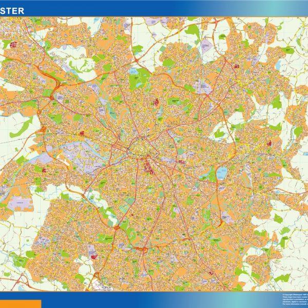Manchester Vinyl Map