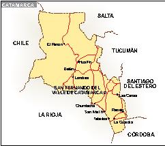 Mapa Catamarca