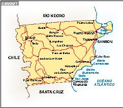 Mapa Chubut