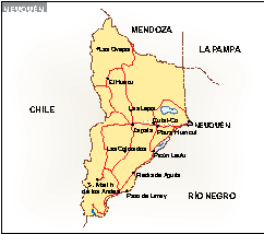 Mapa Neuquen