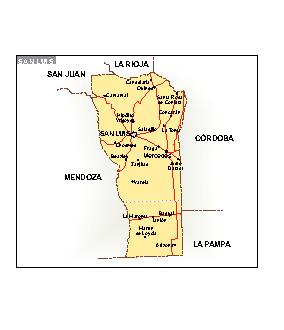 Mapa San Luis