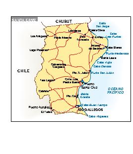 Mapa Santa Cruz