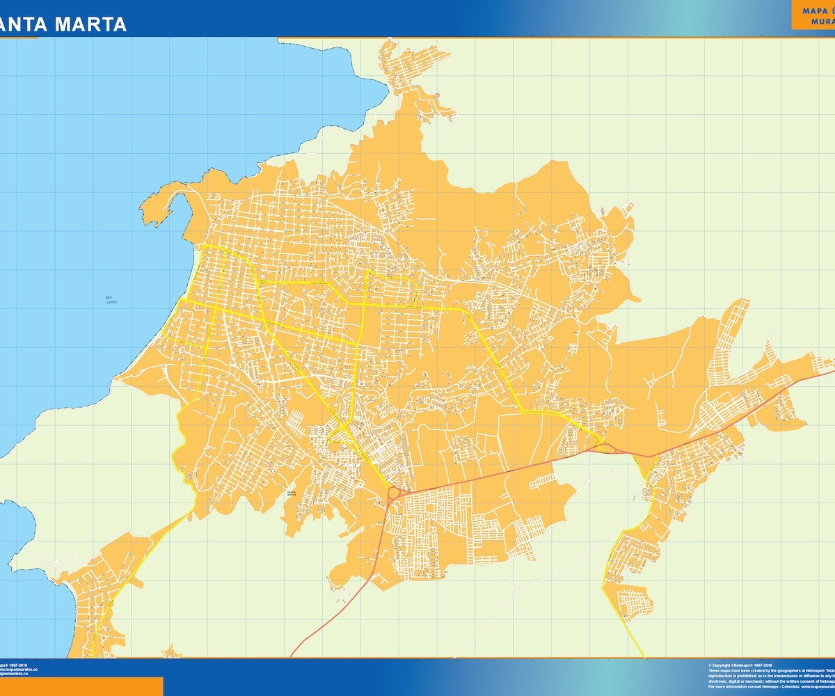 Santa Marta Colombia Mapa.Mapa Santa Marta