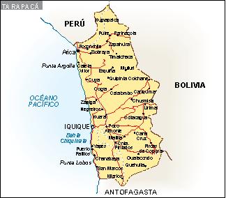 Mapa Tarapaca