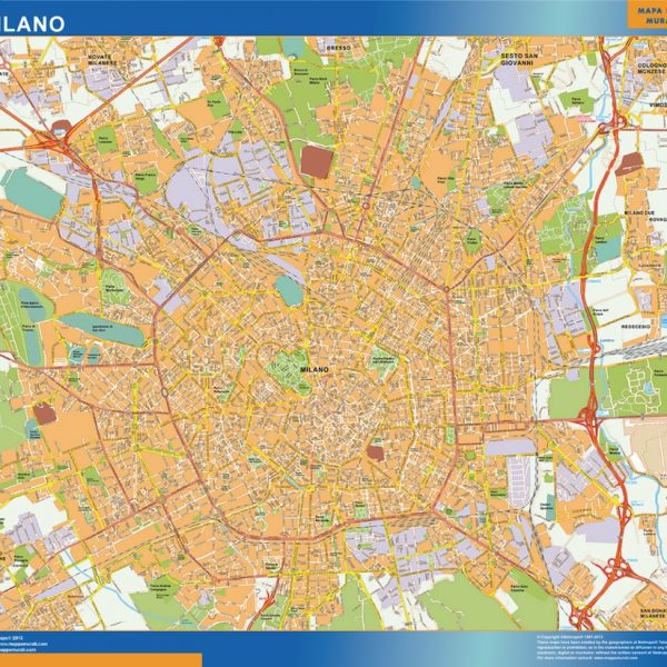 Milano Wall Map