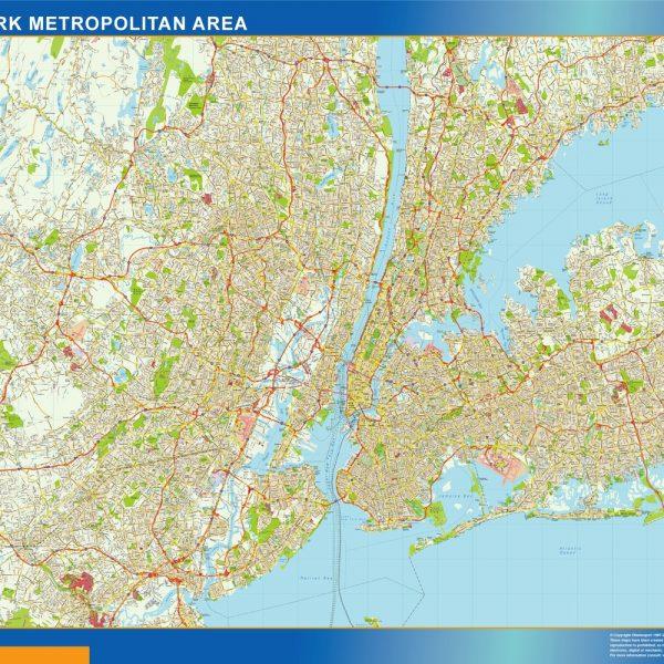 New York Metropolitan Vinyl Map