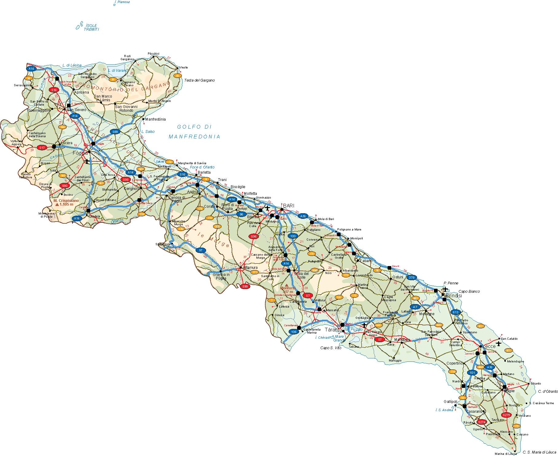 Cartina Puglia Vettoriale.Puglia Vector Map Vector World Maps
