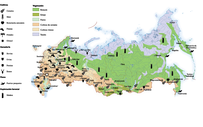 Russia Land Use Map A Vector Eps Maps Designed By Our
