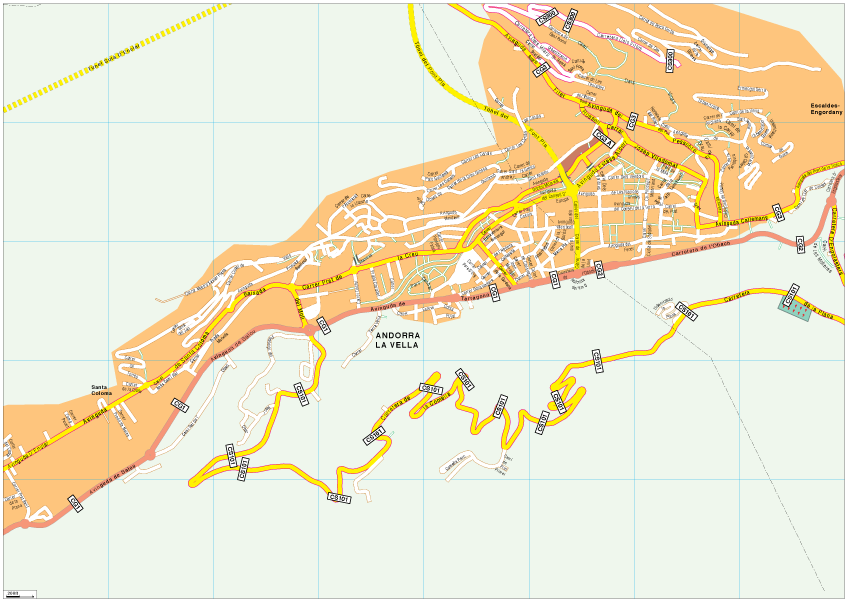 Andorra la Vella Vector EPS Map Our cartographers have made