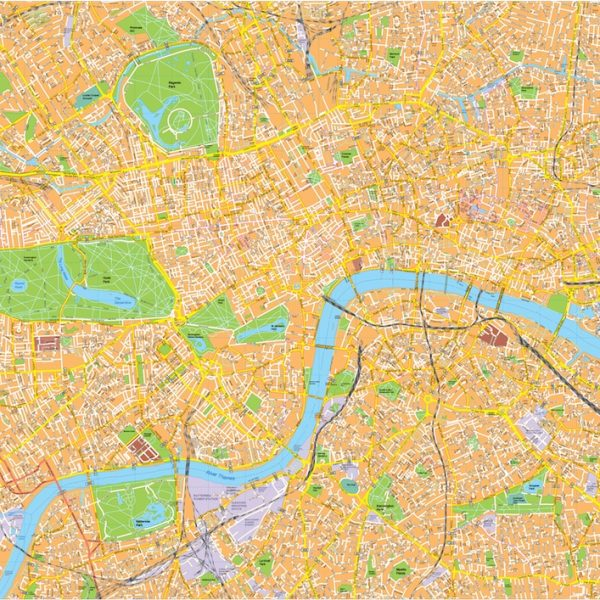 London Vector Streetmap