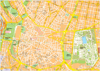 Madrid Vector EPS Map