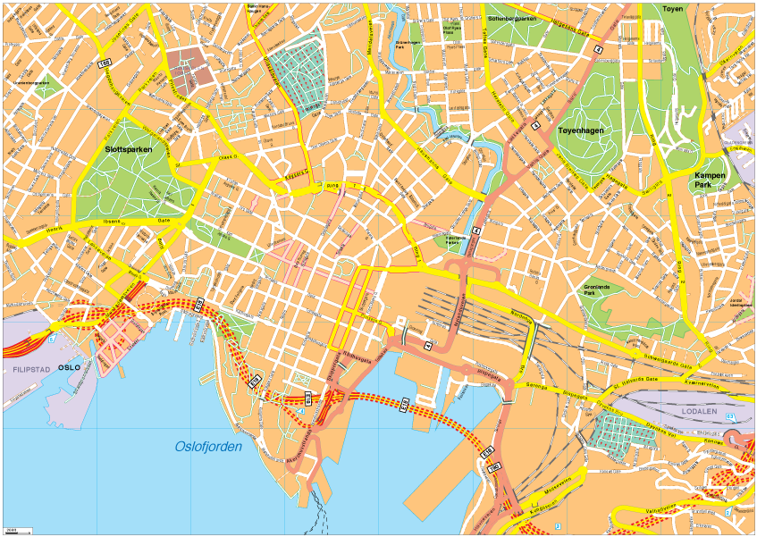 Oslo Vector EPS Map Our cartographers have made Oslo Vector EPS Map