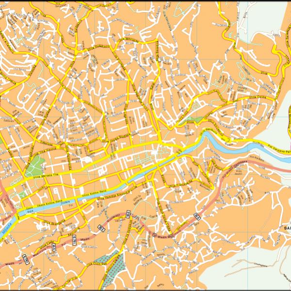 Sarajevo Vector EPS Map