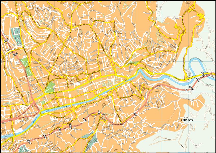 Sarajevo Vector EPS Map on istanbul map, gibraltar on map, budapest map, bosnia map, belgrade map, vienna map, bosnia and herzegovina, dublin map, serbia map, kosovo map, constantinople map, zagreb map, croatia map, balkans map, minsk map, gavrilo princip, siege of sarajevo, kiev map, yugoslavia map, skopje map, the hague map, tirana map, riga map, bosnian war,