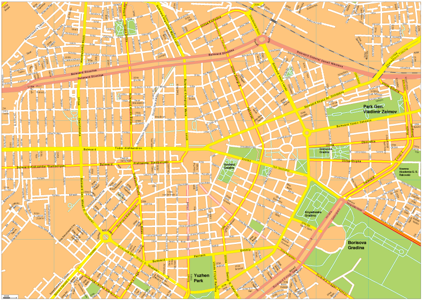 Sofia Vector EPS Map Our cartographers have made Sofia Vector EPS Map