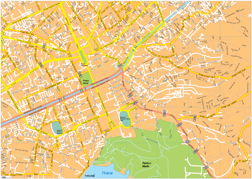 Tirana Vector EPS Map Our cartographers have made Tirana Vector