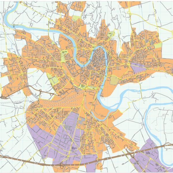 Verona eps vector map